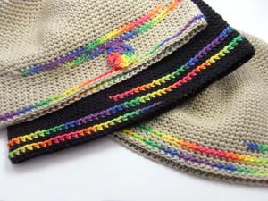 ヘンプ麻100%の帽子はとってもリラックスできるかぶり心地