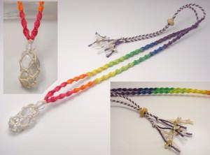 ヘンプいやしや定番の虹色ヘンプネックレス